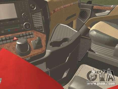 Mercedes-Benz Actros Mp4 v2.0 Tandem Steam for GTA San Andreas interior