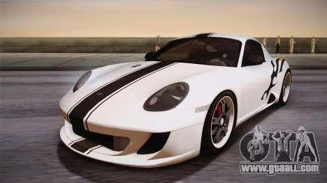 Ruf RK Coupe (987) 2007 HQLM for GTA San Andreas back view