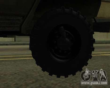 Ural 4320 Armenian for GTA San Andreas bottom view
