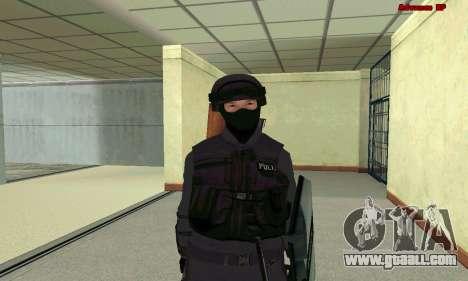 Skin SWAT GTA 5 for GTA San Andreas seventh screenshot