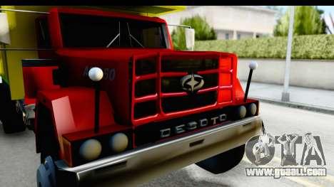 Desoto AS 950 for GTA San Andreas back view