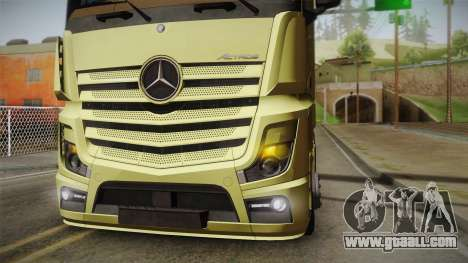 Mercedes-Benz Actros Mp4 6x4 v2.0 Steamspace for GTA San Andreas right view