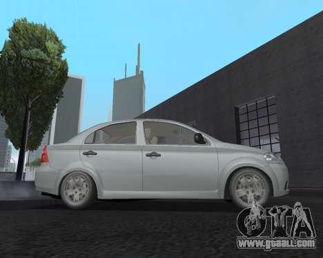Chevrolet Aveo Armenian for GTA San Andreas left view