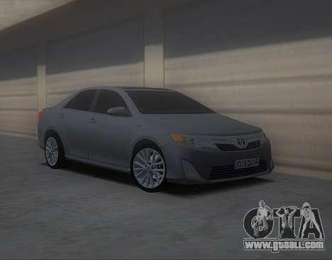 Toyota Camry 2013 USA for GTA San Andreas