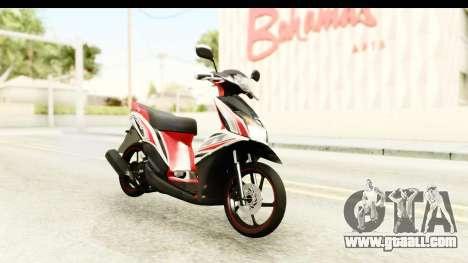 Yamaha Mio GT Standart for GTA San Andreas