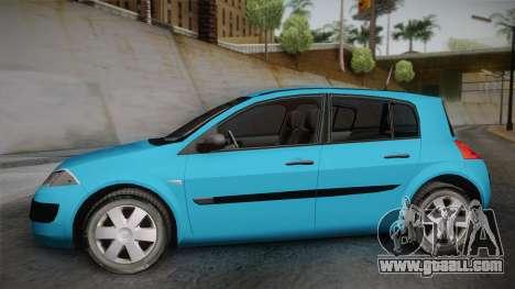 Renault Megane 2 Hatchback v2 for GTA San Andreas back left view