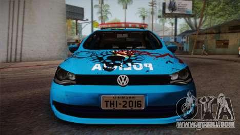 Volkswagen Voyage G6 Pmerj Graffiti for GTA San Andreas back left view