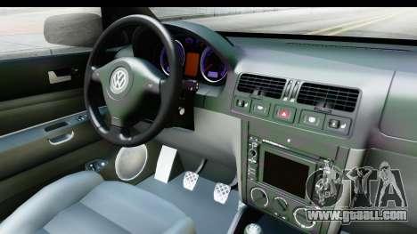 Volkswagen Golf Mk4 Pickup for GTA San Andreas inner view