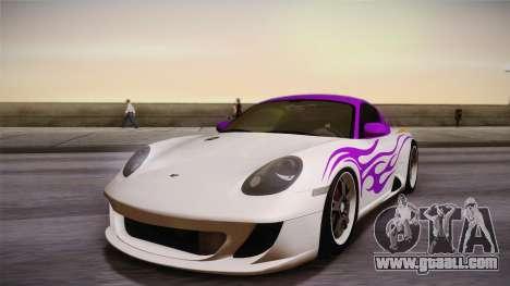 Ruf RK Coupe (987) 2007 HQLM for GTA San Andreas inner view