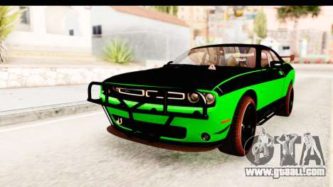 Dodge Challenger F&F 7 for GTA San Andreas back left view