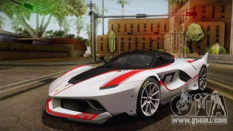 Ferrari FXX-K 2015 for GTA San Andreas inner view