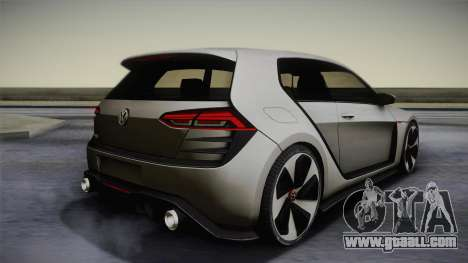 Volkswagen Golf Design Vision GTI for GTA San Andreas left view
