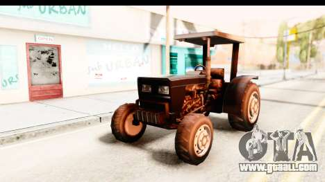 Modern Tractor for GTA San Andreas back left view