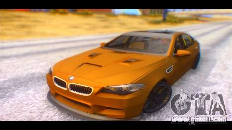 BMW M5 F10 2014 for GTA San Andreas back left view