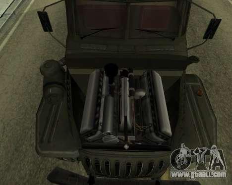 Ural 4320 Armenian for GTA San Andreas inner view