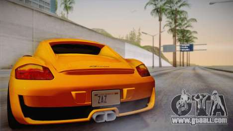 Ruf RK Coupe (987) 2007 IVF for GTA San Andreas upper view