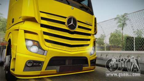 Mercedes-Benz Actros Mp4 4x2 v2.0 Gigaspace v2 for GTA San Andreas back left view