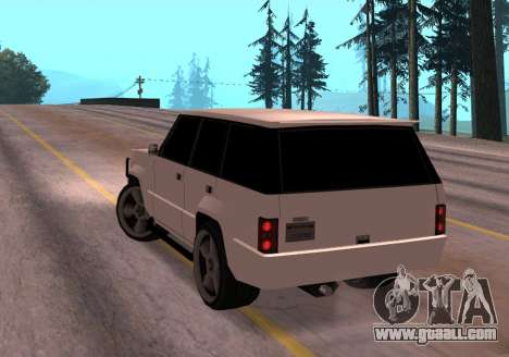 Huntley Rover for GTA San Andreas back left view