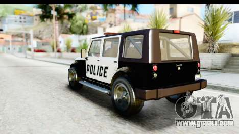 Canis Mesa Police for GTA San Andreas right view