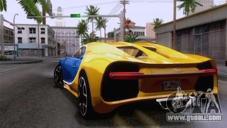 Bugatti Chiron 2017 v2.5 for GTA San Andreas left view