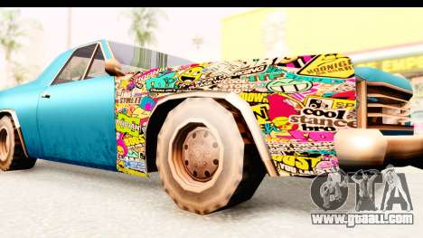 Picador Sticker Bomb for GTA San Andreas back view