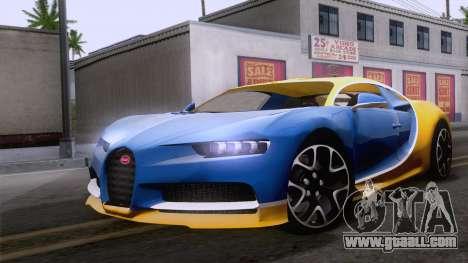 Bugatti Chiron 2017 v2.5 for GTA San Andreas