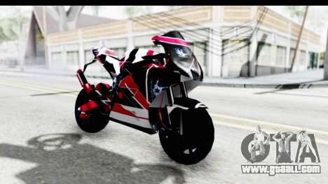 Dark Smaga Motorcycle with Frostbite 2 Logos for GTA San Andreas right view