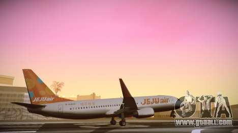 Boeing 737-800 Jeju Air for GTA San Andreas back left view