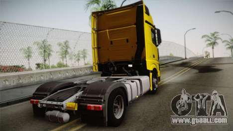 Mercedes-Benz Actros Mp4 4x2 v2.0 Gigaspace v2 for GTA San Andreas left view