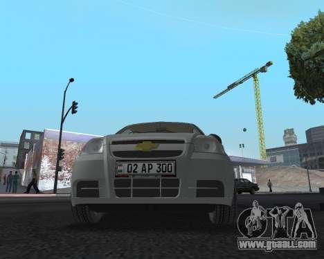 Chevrolet Aveo Armenian for GTA San Andreas side view