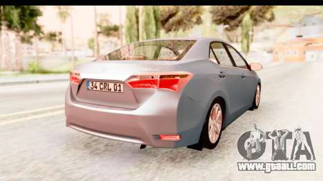 Toyota Corolla 2014 IVF for GTA San Andreas left view