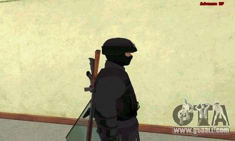 Skin SWAT GTA 5 for GTA San Andreas fifth screenshot