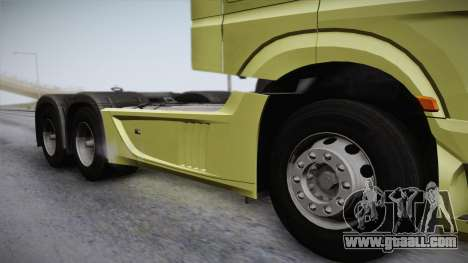 Mercedes-Benz Actros Mp4 6x4 v2.0 Steamspace for GTA San Andreas back left view