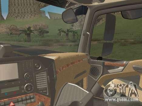 Mercedes-Benz Actros Mp4 6x4 v2.0 Steamspace v2 for GTA San Andreas bottom view