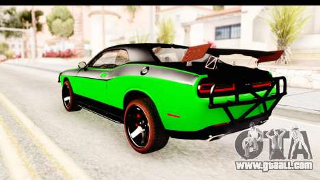 Dodge Challenger F&F 7 for GTA San Andreas left view