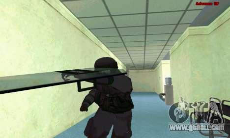 Skin SWAT GTA 5 (PS3) for GTA San Andreas seventh screenshot
