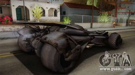 Batman VS Superman Batmobile for GTA San Andreas left view