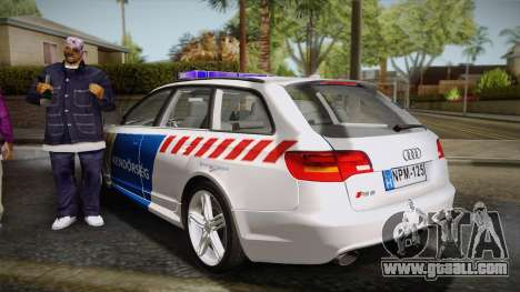 Audi RS6 Hungarian Police for GTA San Andreas left view