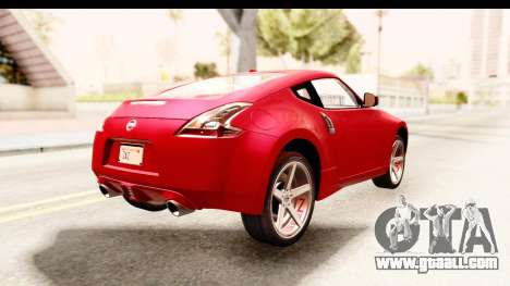 Nissan 370Z 2010 for GTA San Andreas back left view