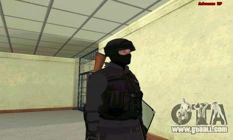 Skin SWAT GTA 5 for GTA San Andreas second screenshot