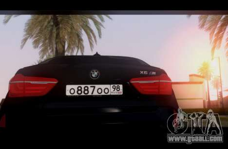 BMW X6M BULKIN SAMP EDITION for GTA San Andreas right view