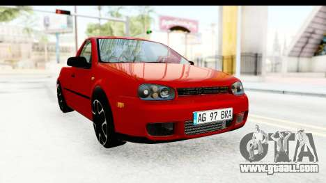 Volkswagen Golf Mk4 Pickup for GTA San Andreas right view