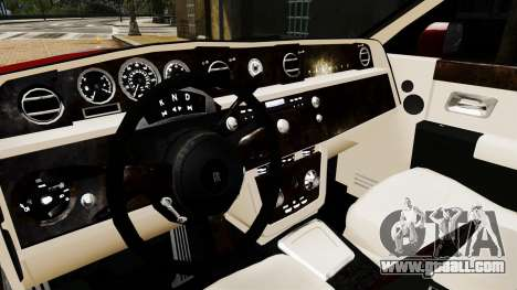 Rolls-Royce Phantom LWB V2.0 for GTA 4 inner view