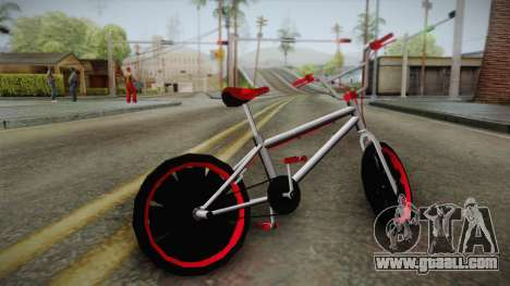 Dark Red BMX for GTA San Andreas left view