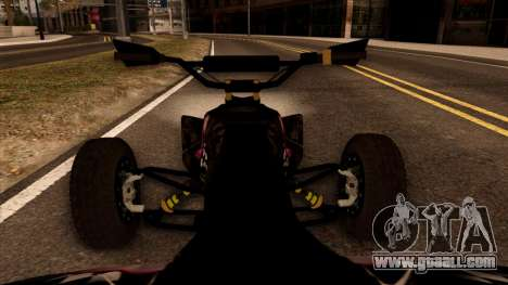 Quad Graphics Skull for GTA San Andreas back view