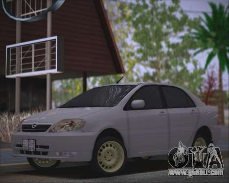 Toyota Corolla 120 for GTA San Andreas back left view