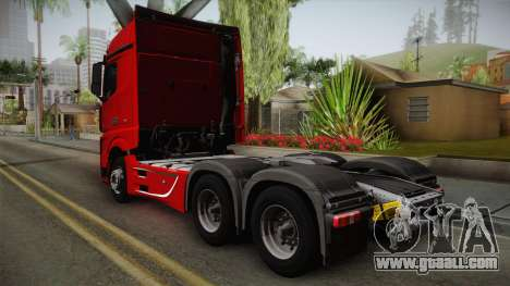 Mercedes-Benz Actros Mp4 6x4 v2.0 Bigspace for GTA San Andreas left view