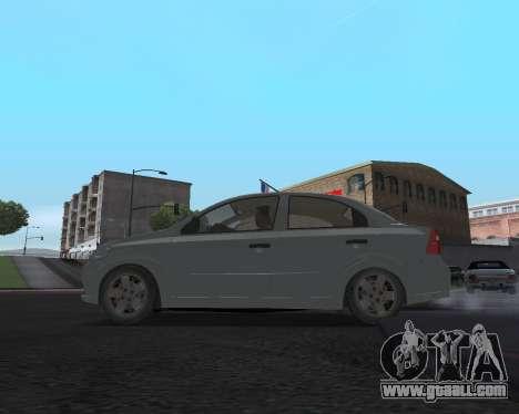 Chevrolet Aveo Armenian for GTA San Andreas back view