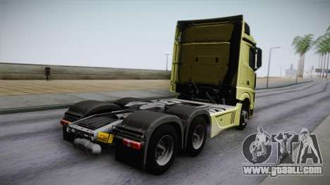 Mercedes-Benz Actros Mp4 6x4 v2.0 Steamspace for GTA San Andreas left view