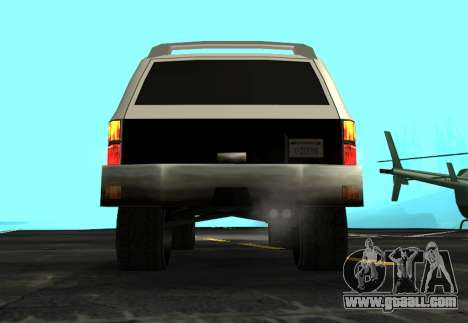 FBI Rancher Tuning for GTA San Andreas back view